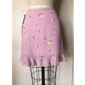 Aritzia- Sunday Best- Pink Floral Skirt- Size 4